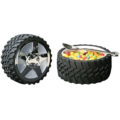 Tire Snack Bowl With Hubcap Lid   Nascar Fan Motorhead Car Enthusiast Wheel By Wrenchware