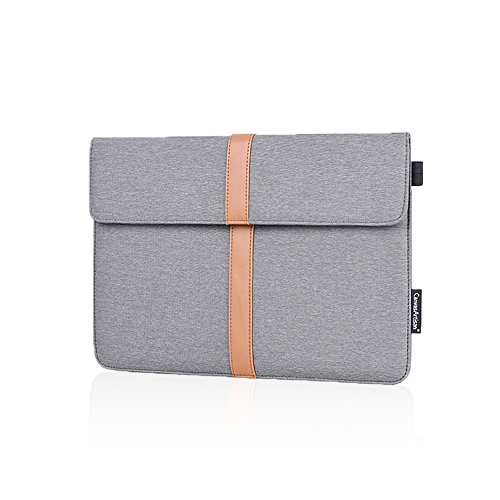 "13-13.3 Inch Water-resistant Magnetic Close Laptop Sleeve for MacBook Air/Pro Retina 2012-2017, iPad Pro 12.9"",ASUS ZenBook Dell HP Chromebook, Protective Bag with Accessory Pocket & Pen holder, Gray"