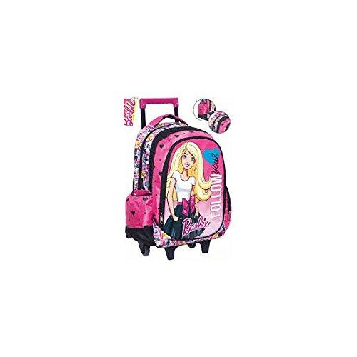 Barbie 349-53074 - Zaino Trolley Ovale Barbie Rosa/Nero