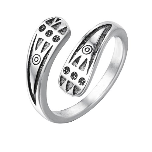Thai Silver Flower - Qiandi 925 Thai Silver Punk Retro Flower Infinite Knuckle Rings For Women Vintage Geometric Rings Party Bohemian Jewelry (STYLE 21)