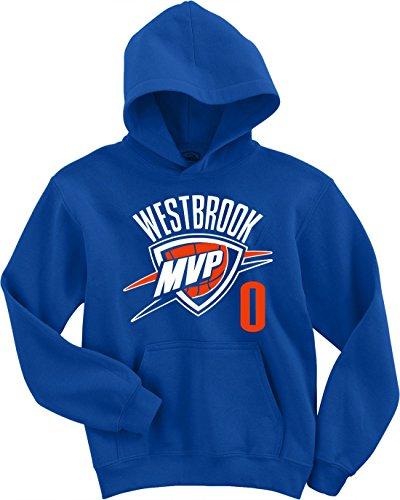 Blue Oklahoma City Westbrook  Mvp  Hooded Sweatshirt Adult Medium