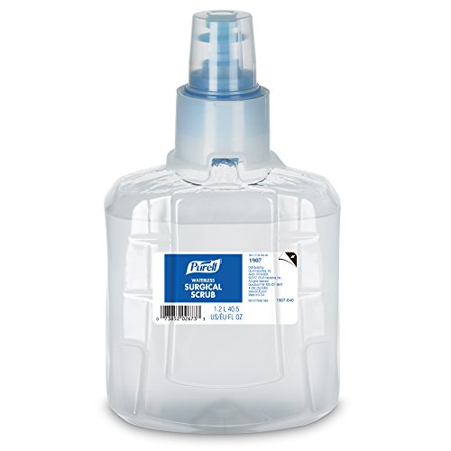 PURELL Waterless Surgical Scrub, 1200 mL Scrub Refill for PURELL LTX-12 Touch-Free Dispenser (Pack of 2) - 1907-02 ()