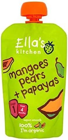 Papayas De 4 Meses 120G Ellas Kitchen/Mangos Paquete de 2 Peras