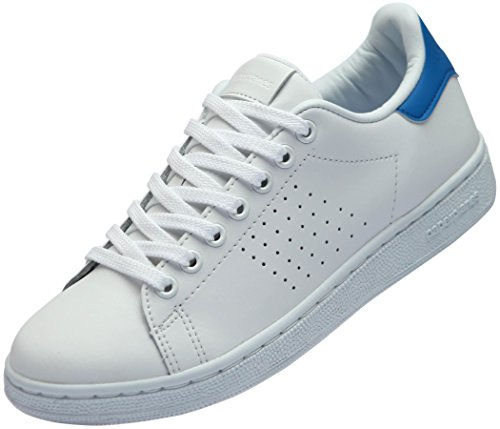 Paperplanes-1361 Unisex Classic Leather Fashion Sneakers Shoes White Blue eNtES
