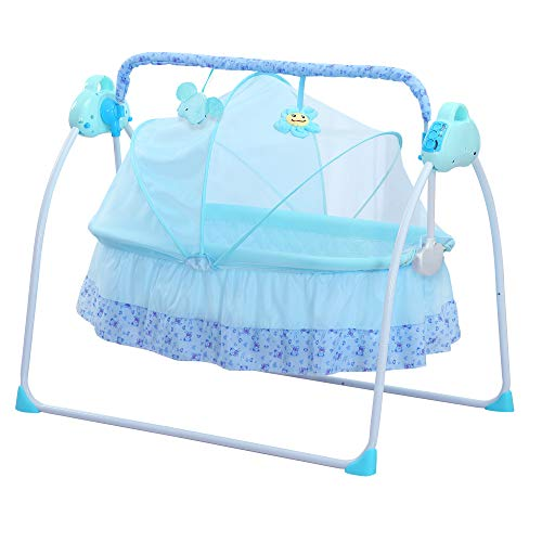 CBBAY Electric Cradle Baby Swing Bed Automatic Rocking Basket bassinets Music Newborn Crib Crib Charged Electrifying cot Collapsible Rocker sway oscillate waggle Infant Baby Supplies Product ()
