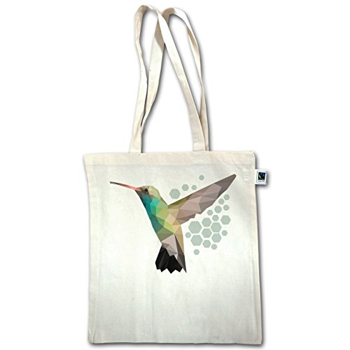 Vögel - Colibri - Unisize - Natural - XT600 - Jutebeutel lange Henkel dVAawStt