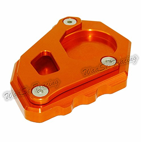waase Motorcycle Kickstand Foot Side Stand Extension Pad Support Plate For KTM 1050 1090 1190 1290 Adventure (Orange) by waase (Image #2)