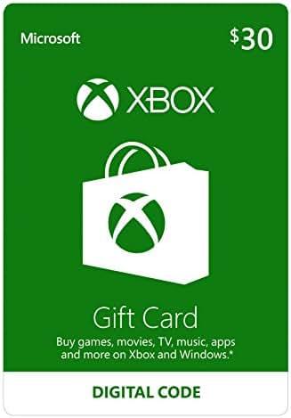 $30 Xbox Gift Card [Digital Code]