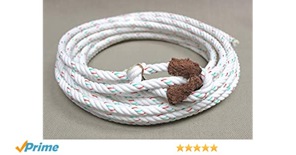 Amazon.com : M-Royal Charro SOGA Reata Florear Rodeo Trick Lariat Rope with Leather Burner : Sports & Outdoors