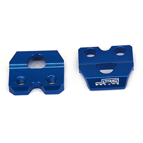 JFG RACING Blue CNC Billet Aluminum Brake Line Hose Clamp Holder For Yamaha YZ125 YZ250 YZ250F YZ450F WR250F WR450F WR250R WR250X