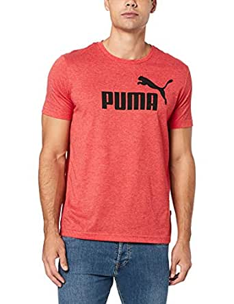 PUMA Men's ESS+ Heather TEE, High Risk Red Heather, S