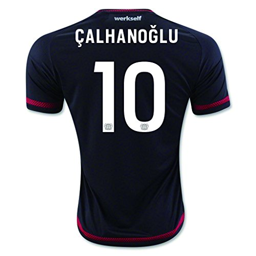 fan products of Black #10 Calhanoglu Home Match Football Soccer Adult Jersey 2015-16
