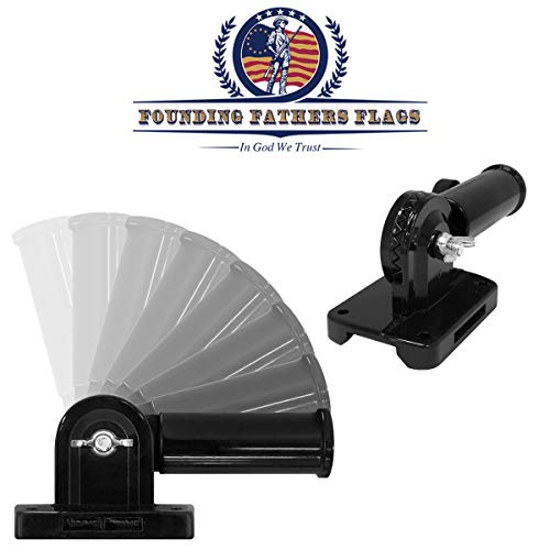 Founding Fathers Flags Black Outdoor Adjustable Flag Bracket ()