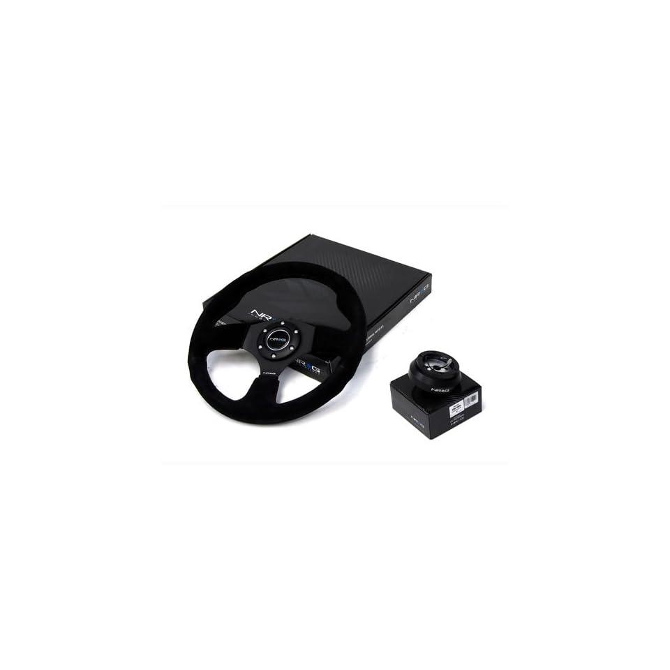 86 93 Toyota Supra NRG 320MM Steering Wheel + Hub Adapter Black Combo
