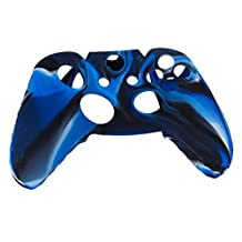 Camo Series Soft Silicone Replacement Protective Skin Case Cover for XBOX ONE Game Controller-Navy with Black