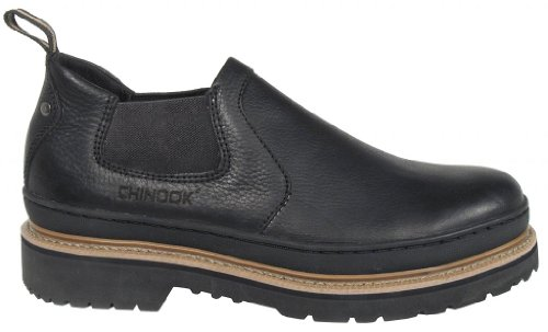 Chinook Footwear Workhorse Romeo Soft Toe Leather Boots - Mens, Black, 14, 4435-001-14