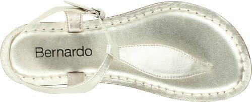Bernardo Dames Mistral Nieuw Metallic T-strap Sandaal Platina