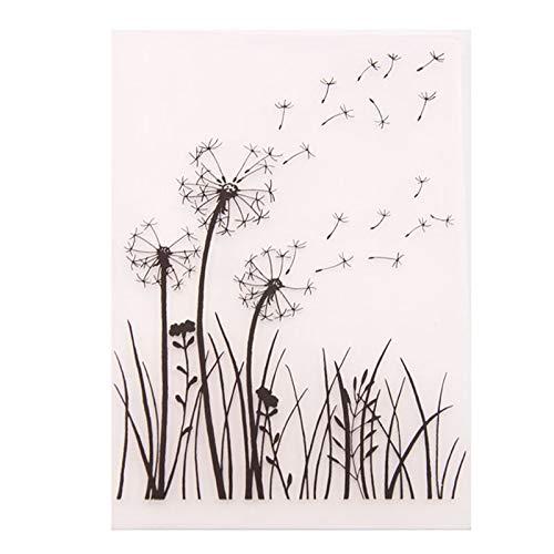 Welcome to Joyful Home 1PC Dandelion Background Embossing Folder for Card Making Floral DIY Plastic Scrapbooking Photo Album Card Paper DIY Craft Decoration Template Mold