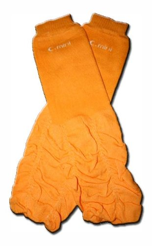 GIRLS OR BOYS /& ONE SIZE by BubuBibi TANGERINE RUFFLES Baby Leggings//Leggies//Leg Warmers for Cloth Diapers