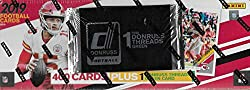 This 2019 Donruss Football factory set contains 400 cards featuring all the top NFL stars and rookies plus many Hall of Famers. As an added bonus each set contains one EXCLUSIVE Threads Green Jersey card!! Loaded with key rookie cards of Kyler Murray...