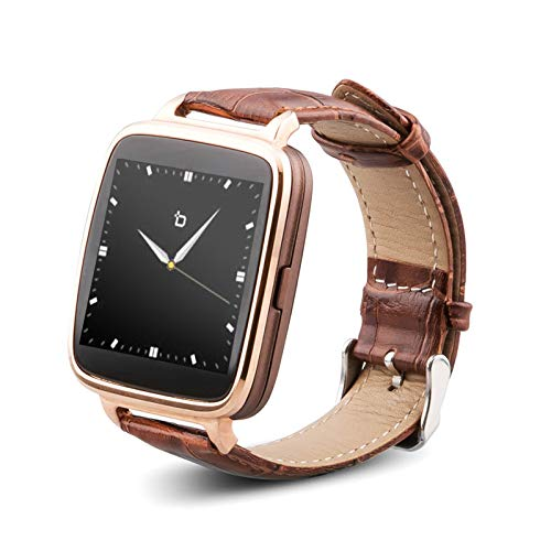 (BIT S1G S1 Smart Watch Gold / Brown Leather Strap Android)