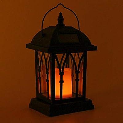 Farol solar con efecto de luz de vela, para la decoración del jardín, lámpara solar de jardín en forma de vela [Clase energética A +]: Amazon.es: Hogar