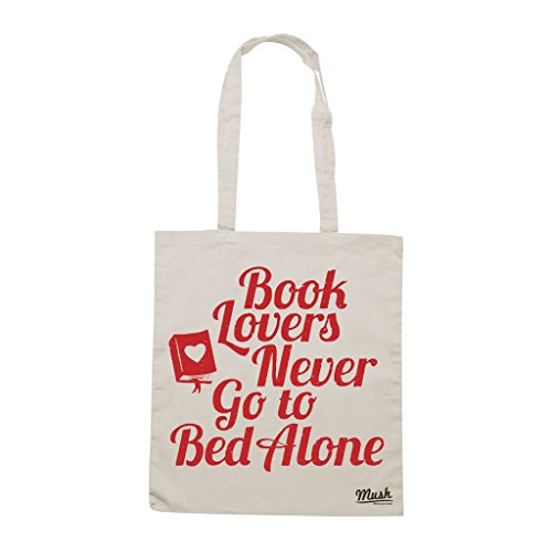Borsa AMANTI DEI LIBRI LETTURA BOOKLOVERS - Sand - MUSH by Mush Dress Your Style