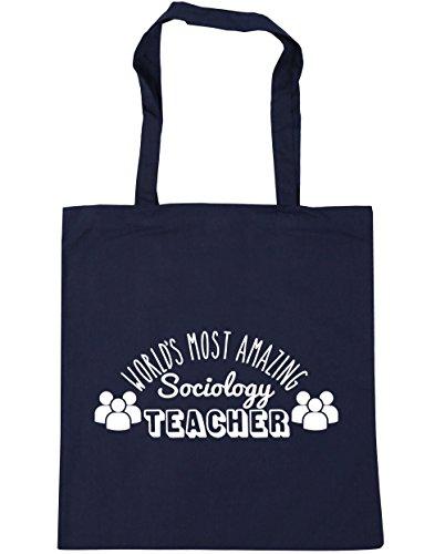 World's Bag French 10 HippoWarehouse most x38cm Beach Shopping amazing Navy teacher 42cm Tote Gym sociology litres p41nqf4d
