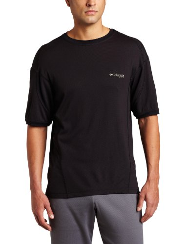 Columbia Men's Skiff Guide II Short Sleeve Tee Fishing Shirt (Black, Small) ()