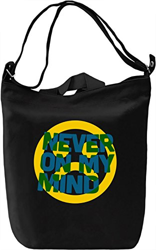 Never On My Mind Borsa Giornaliera Canvas Canvas Day Bag| 100% Premium Cotton Canvas| DTG Printing|