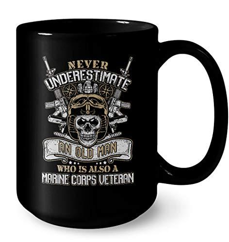 usmc coffee mug black - 9