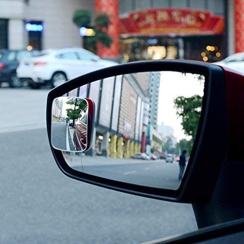 2 Inch Round HD Frameless Glass Mr.Zz Blind Spot Mirrors 4 Pack Adjustable Stick-On Design,Convex Rear View Mirror or Passenger Side Mirrors for All Cars