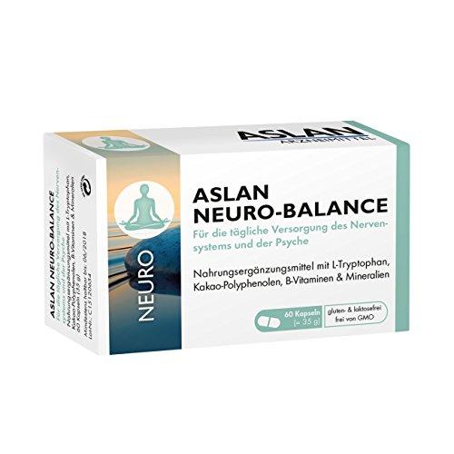 ASLAN Neuro-Balance, 60 Kapseln - L-Tryptophan Vitamin B-Komplex Nervensystem Psyche Wohlbefinden Gehirn Neurotransmitter-Gleichgewicht