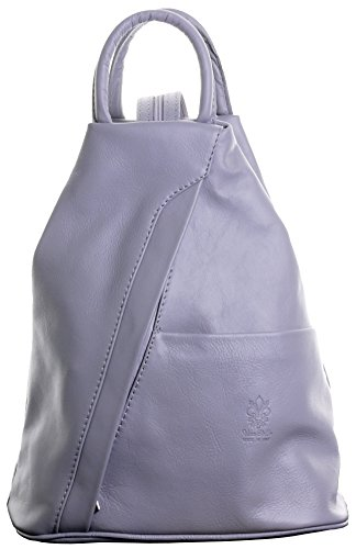 Leather Italian Protective Primo Branded Soft Bag Handle Light Backpack Rucksack Shoulder Grey Bag Includes Top Napa Sacchi Storage cAcBWnqgO