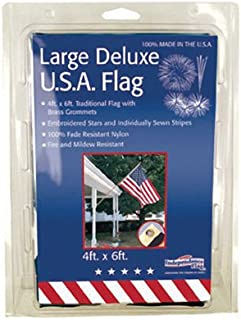 "product image for Nylon Sewn Embroidered US Traditional Flag Size: 48"" H x 72"" W"