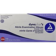 Dynarex Dynaplus Economy Nitrile Gloves, Large, 200 Count