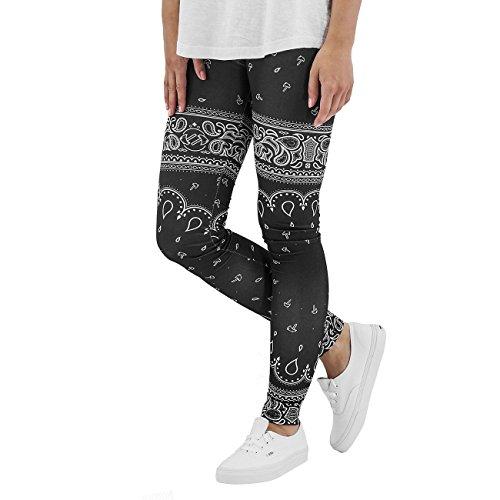 Dangerous DNGRS Mujeres Pantalones / Legging/Tregging Paisley negro