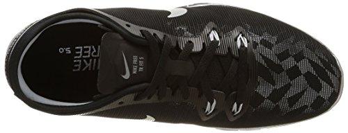 Nike Free 5.0 Tr Fit 5 Mtlc - - Mujer Negro / Plata