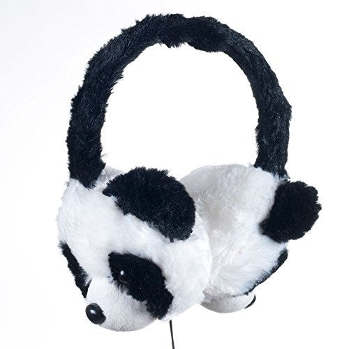 Happy Trails 80-AP081 Plush Stereo Headphones, Panda Bear