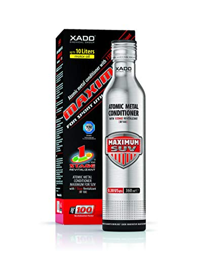 XADO Engine Oil additive - Protection for Engines - additive for wear Protection & rebuilding of Worn Metal Surfaces - Metal Conditioner w. Revitalizant 1Stage Maximum SUV (up to 10qt of Oil Capacity)