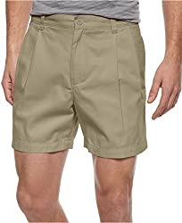 Club Room Shorts, Core Twill Double Pleated (30W, Creek Bed)