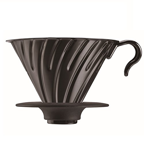 Black 02 Machine - Hario V60 Metal Coffee Dripper, Size 2, Black
