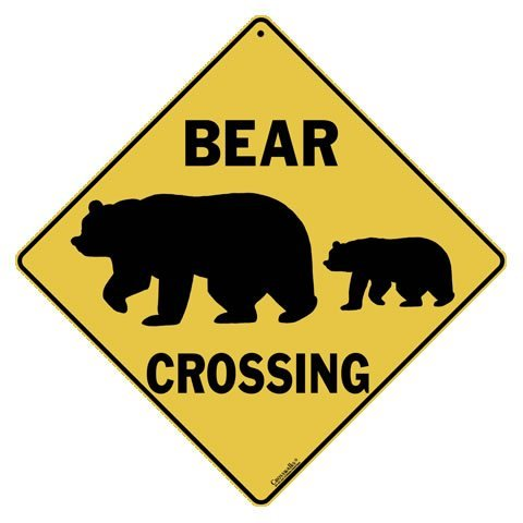 - CROSSWALKS Bear Silhouette Crossing 12