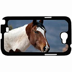New Style Customized Back Cover Case For Samsung Galaxy Note 2 Hardshell Case, Back Cover Design Horse Personalized Unique Case For Samsung Note 2
