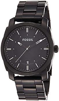 Fossil Men's Black Stainless-Steel Analog Quartz Watch