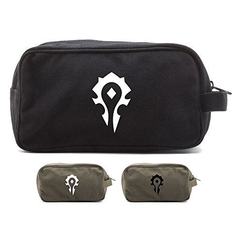 World of Warcraft Horde Canvas Shower Kit Travel Toiletry Bag Case