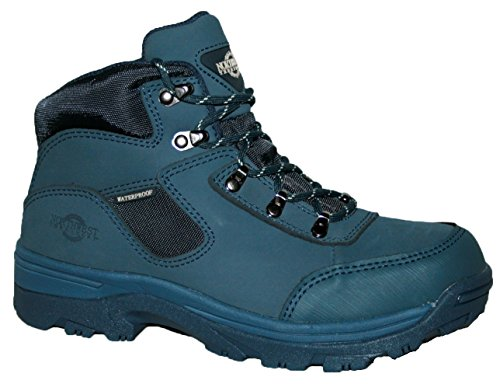 Ladies Walking/Hiking Boot, tormenta totalmente impermeable Lace Up Piel/Nailon superior azul marino