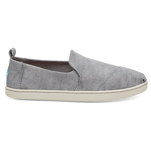 TOMS Womens Deconstructed Alpargata Casual Shoe Drizzle Grey Washed Twill Q3b23