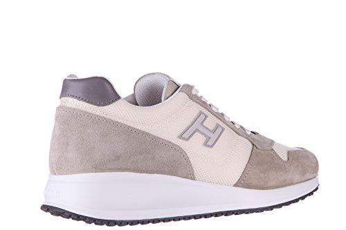 Hogan chaussures baskets sneakers homme en daim interactive n20 h flock beige