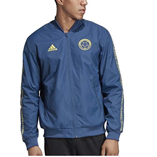 (adidas Colombia Anthem Jacket 19/20 (Large) Night Marine/Light)